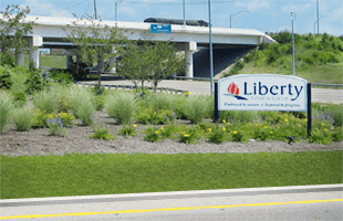 Liberty Township Welcome Sign