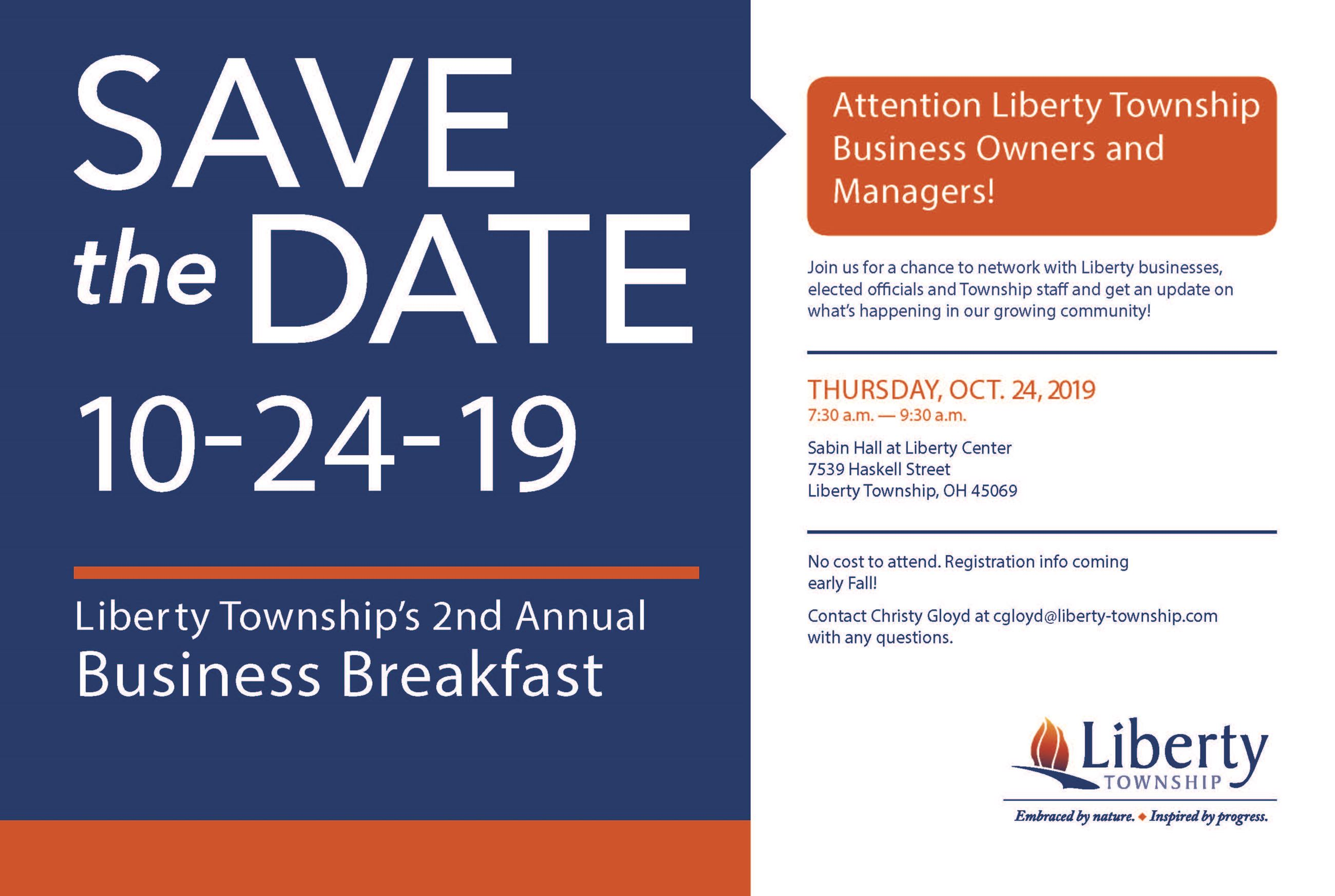 2019 Business Breakfast Save the Date